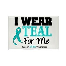 I Wear Teal For Me Rectangle Magnet