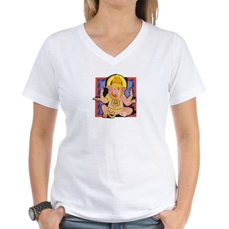 Ganesh yoga Women's V-Neck T-Shirt