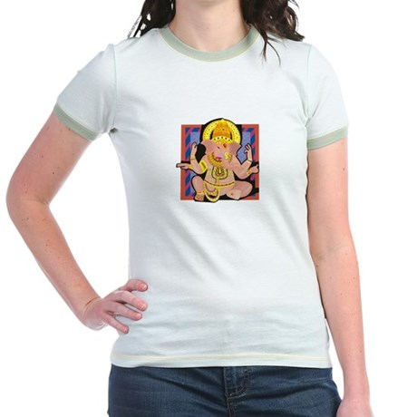 Ganesh yoga Jr. Ringer T-Shirt
