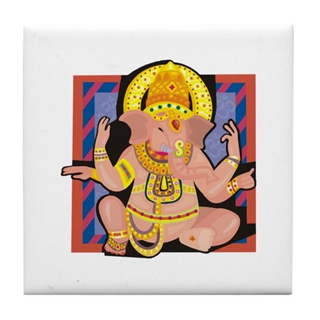 Ganesh yoga Tile Coaster