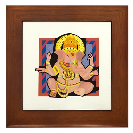 Ganesh yoga Framed Tile