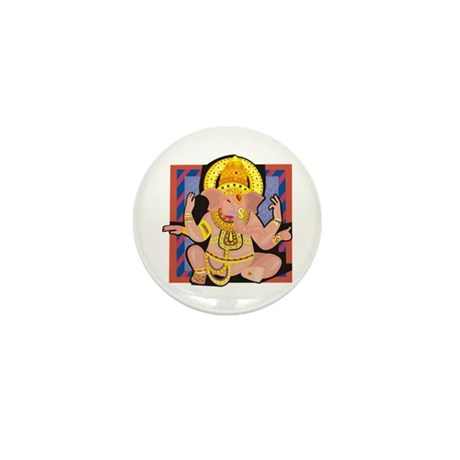 Ganesh yoga Mini Button