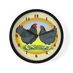 Blue Wyandottes Wall Clock