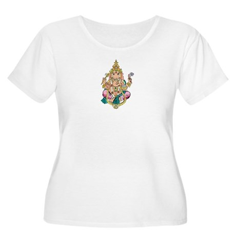 Yoga Ganesh Women's Plus Size Scoop Neck T-Shirt