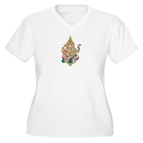 Yoga Ganesh Women's Plus Size V-Neck T-Shirt