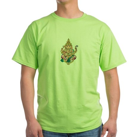 Yoga Ganesh Green T-Shirt