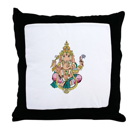Yoga Ganesh Throw Pillow