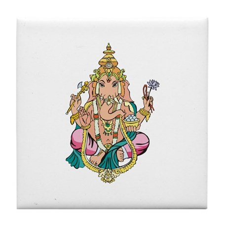 Yoga Ganesh Tile Coaster
