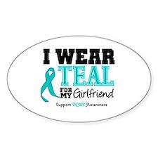 IWearTeal Girlfriend Oval Decal