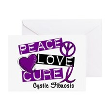 PEACE LOVE CURE Lupus (L1) Greeting Cards (Pk of 2