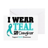 IWearTeal Daughter Greeting Cards (Pk of 10)