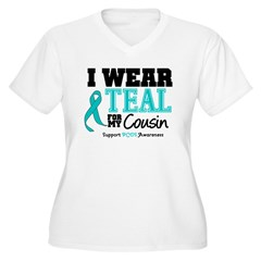 IWearTeal Cousin Women's Plus Size V-Neck T-Shirt