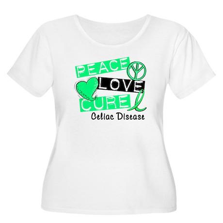PEACE LOVE CURE Celiac Disease (L1) Women's Plus S