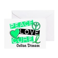 PEACE LOVE CURE Celiac Disease (L1) Greeting Card