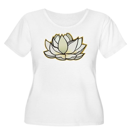 yoga lotus flower Women's Plus Size Scoop Neck T-S