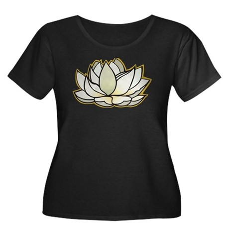 yoga lotus flower Women's Plus Size Scoop Neck Dar