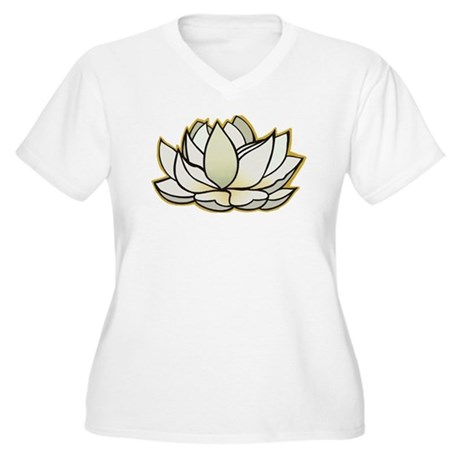 yoga lotus flower Women's Plus Size V-Neck T-Shirt