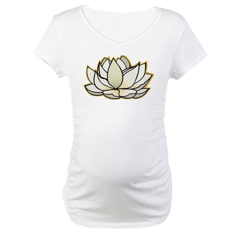 yoga lotus flower Maternity T-Shirt