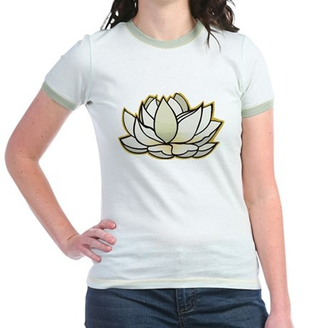 yoga lotus flower Jr. Ringer T-Shirt