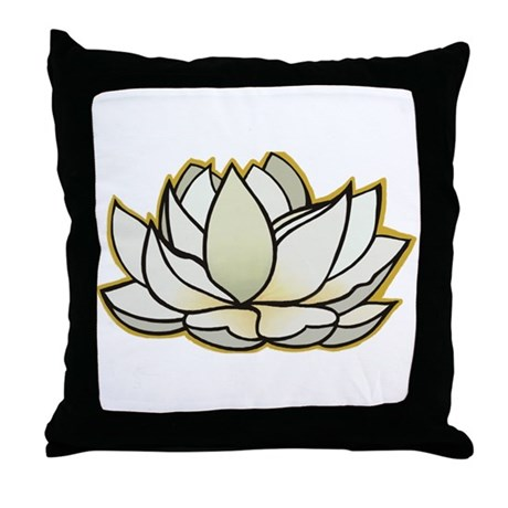 yoga lotus flower Throw Pillow