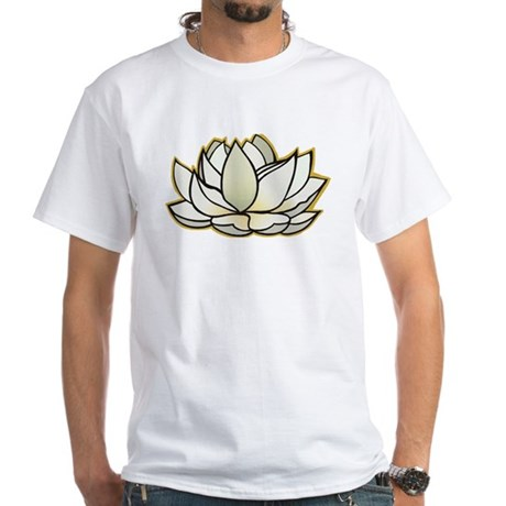 yoga lotus flower White T-Shirt