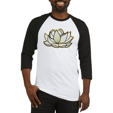 yoga lotus flower Baseball Jersey