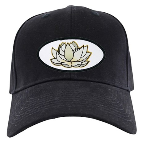 yoga lotus flower Black Cap