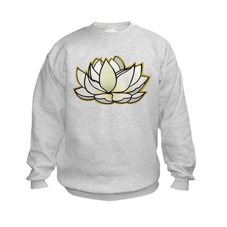 yoga lotus flower Kids Sweatshirt