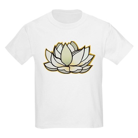 yoga lotus flower Kids Light T-Shirt