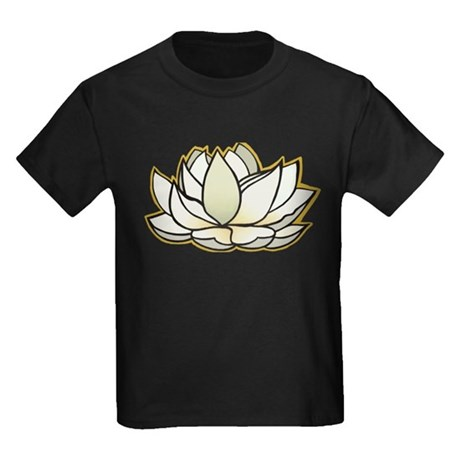 yoga lotus flower Kids Dark T-Shirt