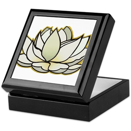 yoga lotus flower Keepsake Box