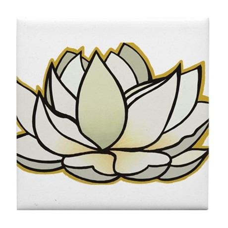 yoga lotus flower Tile Coaster