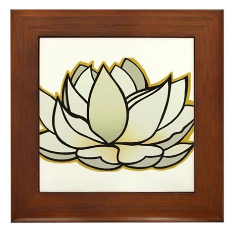 yoga lotus flower Framed Tile