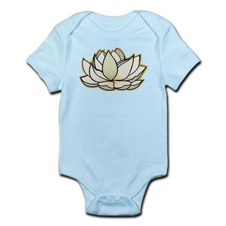 yoga lotus flower Infant Bodysuit