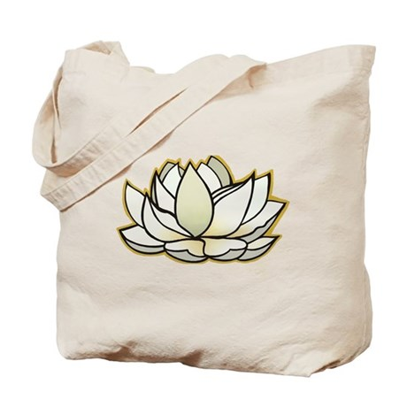 yoga lotus flower Tote Bag