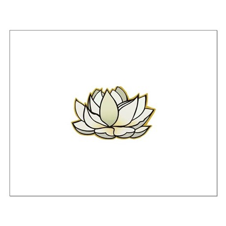 yoga lotus flower Small Poster