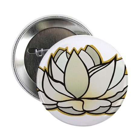 "yoga lotus flower 2.25"" Button"