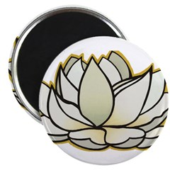 yoga lotus flower 2.25&quot; Magnet (10 pack)