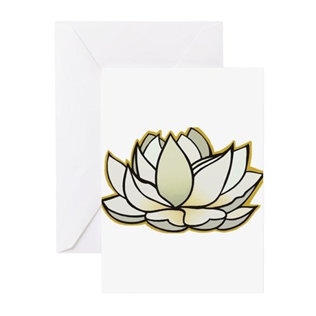 yoga lotus flower Greeting Cards (Pk of 10)