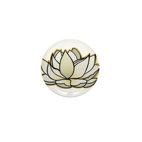 yoga lotus flower Mini Button