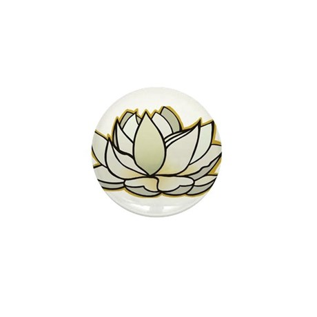 yoga lotus flower Mini Button (10 pack)