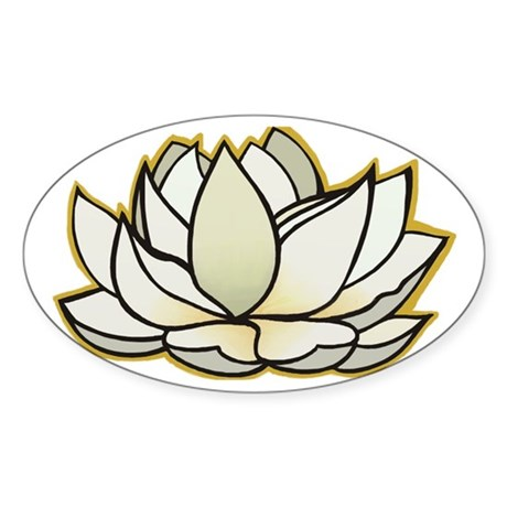 yoga lotus flower Oval Sticker