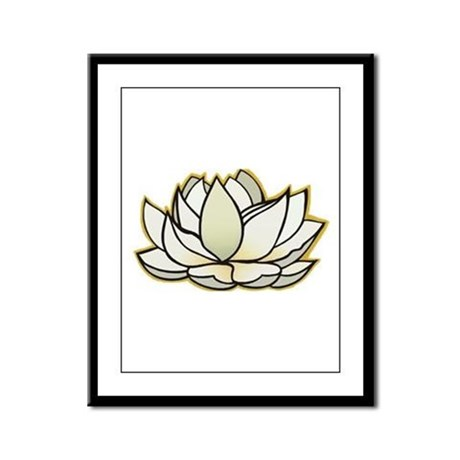 yoga lotus flower Framed Panel Print