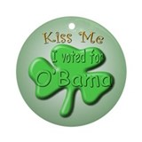 Irish O'Bama Ornament (Round)