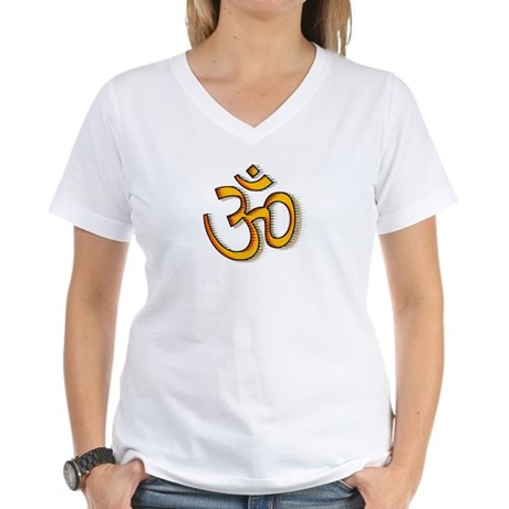 Om yoga Women's V-Neck T-Shirt