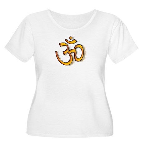 Om yoga Women's Plus Size Scoop Neck T-Shirt