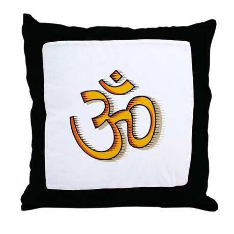 Om yoga Throw Pillow