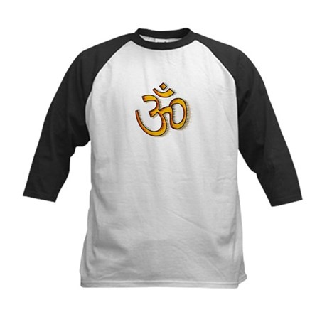 Om yoga Kids Baseball Jersey