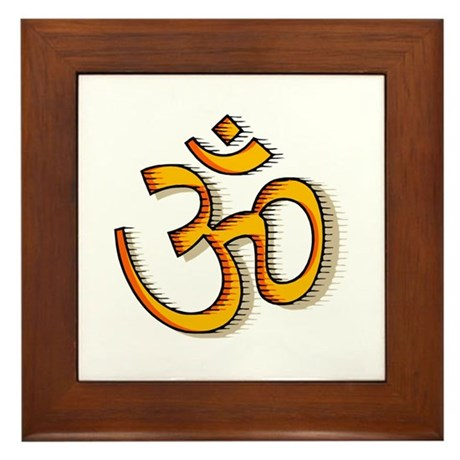 Om yoga Framed Tile