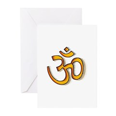 Om yoga Greeting Cards (Pk of 10)